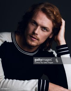 Actor Sam Heughan is photographed for Self Assignment on November 19, 2014 in Los Angeles, California.