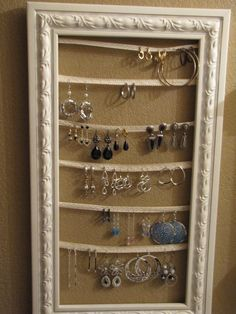 Earring holder.