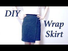 Sewing + DIY Wrap Skirt - YouTube