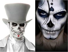maquillage-halloween-homme-grillage-barbele-coeurs-visage