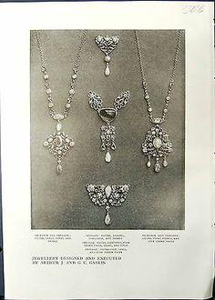 Print Jewellery Arthur Gaskin Necklace Pendant Georgina Cave Silver Cla 328G335