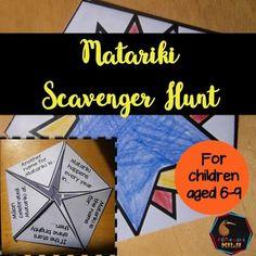 Matariki Scavenger Hunt Junior and Senior Primary Book Scavenger Hunt, Teaching Resources, Special Events, Classroom, Student, Activities, Education, Children, Class Room