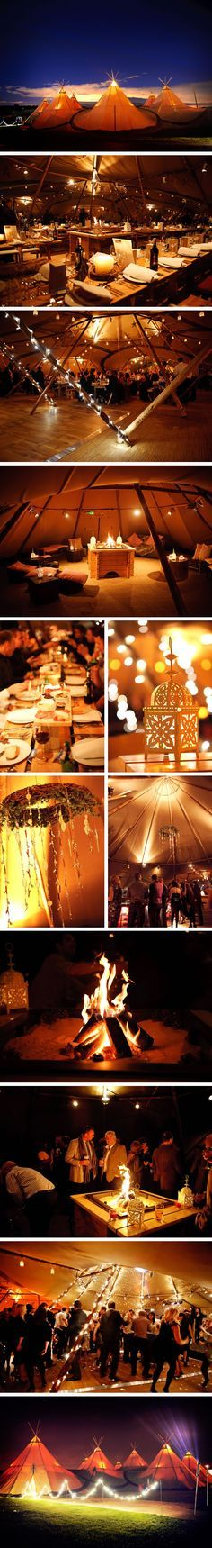 Teepee venues provide a wonderful experience with the option to theme individual…