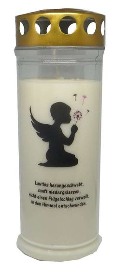 Grablicht Wochenbrenner Engel Pusteblume
