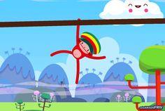 Un mono muy rasta se balancea en solojuegosfriv.com