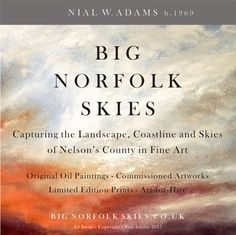 Follow more of Art of Nial W. Adams on Instagram and Twitter  www.instagram.com/nialadams  @bignorfolkskies Limited Edition Prints, Paintings, Fine Art, Art Prints, Landscape, Twitter, Artwork, Image, Instagram