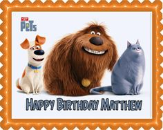 The Secret Life of Pets 1 Edible Cake Topper & Cupcake Toppers – Edible Prints On Cake (EPoC)