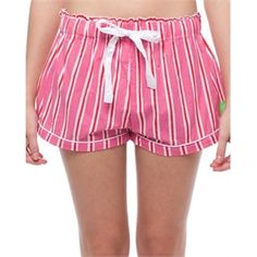 Sant And Abel - Iris Apfel Boxer Shorts - Sleepwear (Pink & Red Stripe) AU$42.00