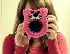 Cat Camera Buddy - Camera Lens Accessory - Pink by WyandotteWears, $13.00