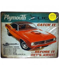 Plymouth Cuda Catch It Before It Get's Away! Metal Print