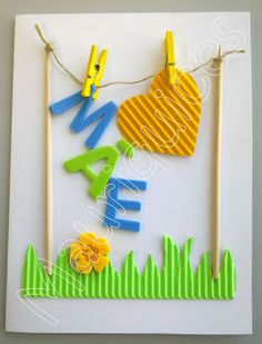Mauriquices: Com três letrinhas apenas se escreve a palavra Mãe! Kids Crafts, Mothers Day Crafts For Kids, Fathers Day Crafts, Mothers Day Cards, Happy Mothers Day, Diy And Crafts, Mather Day, Valentines Diy, Diy Cards