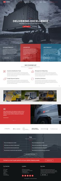 Freight, Logistics & Transportation WordPress Theme. Download : themeforest.net/item/gocargo-freight-logistics-transportation-wordpress-theme/15292056?s_rank=3&ref=pxcr