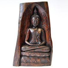 Statue Buddha sitzend 33x14x51cm dunkel