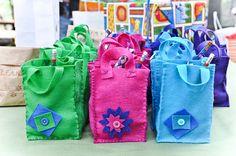 DIY make your own felt goody bags