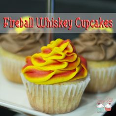 Fireball Whiskey Cupcakes!