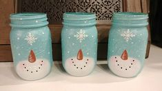 Country Snowman Mason Jars | Eyeballs By Day, Crafts By Night