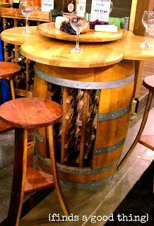 Botellero barrica de vino mueble madera muebles y for Barril mueble bar
