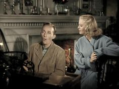Holiday Inn movie set design - I love to see these color pictures from black & white movies. It makes watching it next time, interesting imagining the color of the clothes they are wearing...