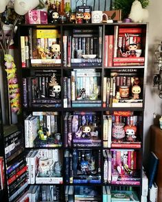 My BEAUTIFUL Funko infested shelf! I think I've gotten at least 10 more since this was taken but at least in this it still looks organized. Now it's just a mess. 😂 oh well. Do you own any funkos?...