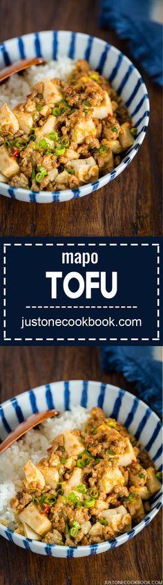Mapo Tofu (麻婆豆腐) - Japanese Style | Easy Japanese Recipes at http://JustOneCookbook.com