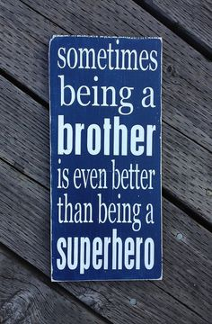 Brother Superhero Sign  Hand Painted Wood by sugarcoatedsentiment, $28.00