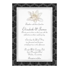 See MoreBlack Damask Wedding Invitations Personalized Invitationonline after you search a lot for where to buy