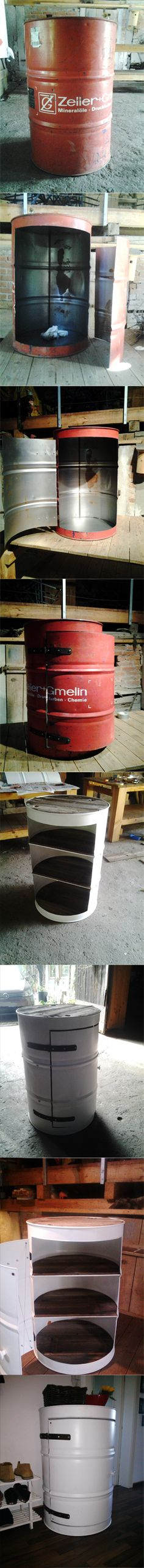 DIY oil barrel maybe without painting it though