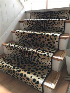 Stair Runners Cheetah Print Animal Prints Stairs Boston Carpet Stairway
