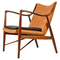 No. 45 Chair by Finn Juhl. Another classic piece by another midcentury giant, Finn Juhl is acknowledged as the father of Danish Modern design. Once described as the most beautiful chair in the world, the number 45 chair is certainly one of the most important pieces of the 1950's.