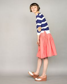 Mason Sweater - Greylin.  I like this sweater/skirt combination and, of course, the elbow patches.
