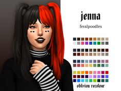 jenna by ☽ compatible with my cats & dogs expansion pack split accessory (here) comes in oblivion palette, separated or merged ☽ base game compatible ☽ female teen-elder ☽ hat. Los Sims 4 Mods, Sims 4 Game Mods, Sims Four, Sims 4 Mm Cc, Sims 4 Mods Clothes, Sims 4 Clothing, Sims 4 Cas, My Sims, Vêtement Harris Tweed