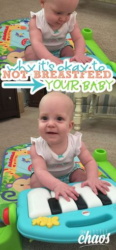 It's a known fact that breastfeeding is loaded with benefits. I'm here to tell you that while that's true, it's okay to not breastfeed your baby.