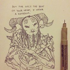 Afbeeldingsresultaat voor film quote pan's labyrinth Labyrinth Quotes, Labyrinth Tattoo, My Fantasy World, Fantasy Art, Monster Sketch, Horror Drawing, Dream Tattoos, Animal Sketches, Gothic Art