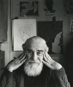 Arnold Newman - Al Hirschfeld, New York, NY (1983)
