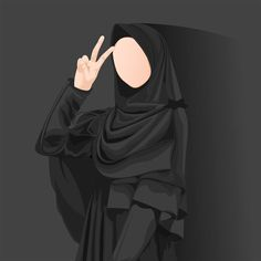 Anime Muslim, Muslim Hijab, Hijabi Girl, Girl Hijab, Muslim Girls, Muslim Women, Tmblr Girl, Hijab Drawing, Islamic Cartoon