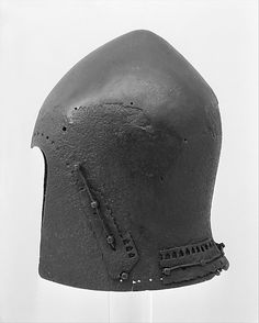 Bascinet Date: ca. 1350–1400 Culture: Italian http://www.metmuseum.org/Collections/search-the-collections/40001453?rpp=20=7=*=Helmets=139