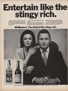 McMasters Canadian and Scotch whiskey 1969