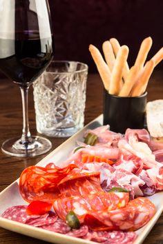 Mediterranean Charcuterie Board, Mortadella, Coppa, Parma Ham, Truffle Salami, Ventricina & Giardiniera - Ideal for Sharing