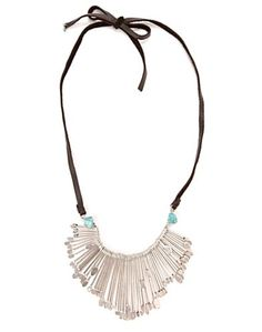 Silver Long Metal Necklace* - Accessories - Lucky Brand Jeans