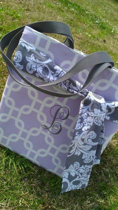 Purple & Gray Boutique bag by PaciBabiesBoutique on Etsy, $33.00