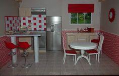 Painted  Gloria Barbie Furniture Kitchen