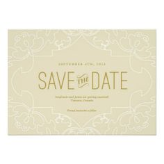 Lacy Save the Date Personalized Invitation Shoppingtoday easy to Shops & Purchase Online - transferred directly secure and trusted checkout...