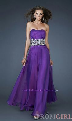 Purple long gown with jewel waist  embellishments