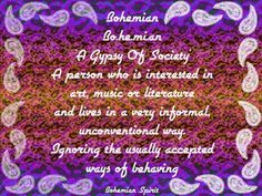 bohemian/gypsy definition