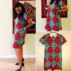 A T-shirt Dress African Wax Print/ Ankara Print/ Kitenge