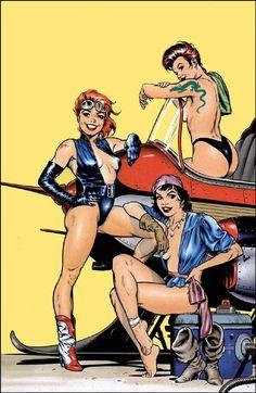 Comic Book Artists, Comic Artist, Comic Books Art, Sci Fi Comics, Bd Comics, Planet Comics, Comics Girls, Science Fiction Art, Pulp Fiction