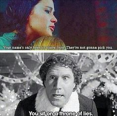 hunger games, elf funny movie one liners - Dump A Day Hunger Games Memes, Hunger Games Fandom, The Hunger Games, Hunger Games Trilogy, Dump A Day, Katniss Everdeen, Funny Movies, Funny Games, Movie Memes