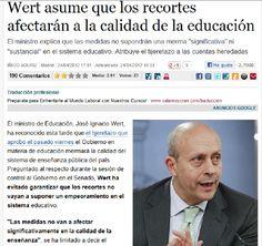 Hasta el mismo ministro reconoce que lo que estan haciendo es destruir la educación española. Que, por cierto, tampoco era buena todo sea dicho.