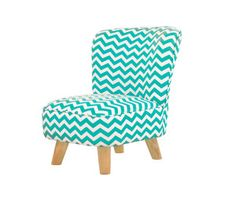 Babyletto Pop Mini Chair - Chevron Blue | My Urban Child