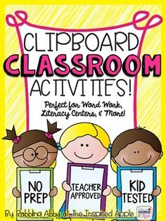 Just add a clipboard!  My students LOOOOOOOOVED these activities!  And, I did, too.  No prep is a HUGE plus!